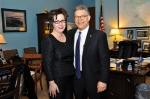 Jacquie Punch with Senator Franken